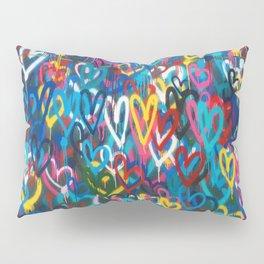 Graffiti Hearts Love (Color) Pillow Sham