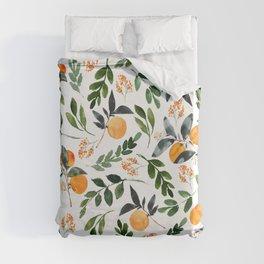 Orange Grove Duvet Cover