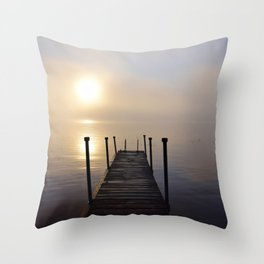 Soft Sunrise on a Misty Adirondack Morning Throw Pillow