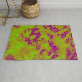 Green - Purple Abstract Texture 2 Rug