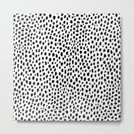 Dalmatian Spots (black/white) Metal Print