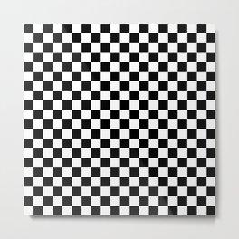 Black Checkerboard Pattern Metal Print