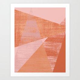 Coral Geo Art Print