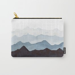 Indigo Mountains Landscape Carry-All Pouch