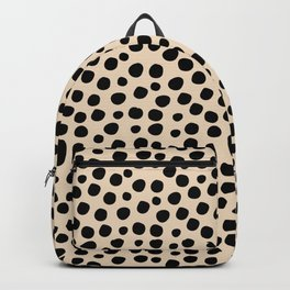 Irregular Small Polka Dots black Backpack