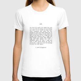 Life quote F. Scott Fitzgerald T-Shirt