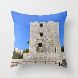 medieval fortress tower Throw Pillow
