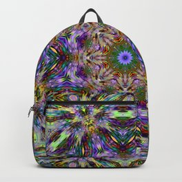 ABSTRACT FRACTAL KALEIDOSCOPE PSYCHEDELIC STRIPES 3 Backpack