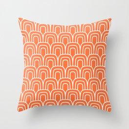 Rainbow Scallop Pattern Orange Throw Pillow