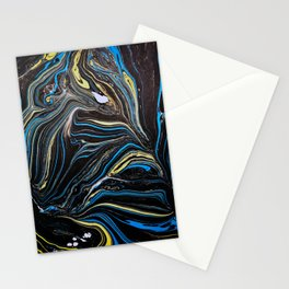 Dark Waters Marble Painting Stationery Cards