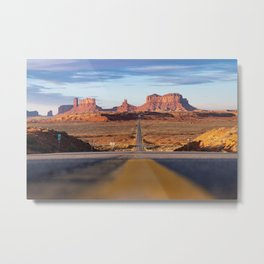 Monument Valley Desert Road Valley Drive Highway Route Arizona-Utah border Photograph Metal Print