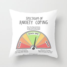 Anxiety Coping Spectrum Throw Pillow