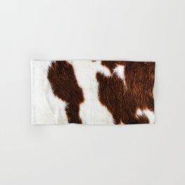 Cowhide Brown Spots Hand & Bath Towel