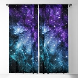 Purple Teal Galaxy Nebula Dream #1 #decor #art #society6 Blackout Curtain