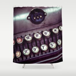 Vintage Cash Register Shower Curtain