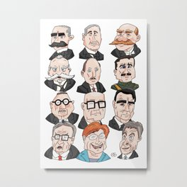 Presidents of Finland Metal Print