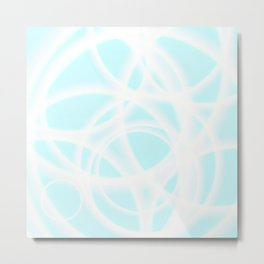 Smoke Sky Blue Doctor Metal Print