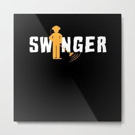 Swinger Metal Detector Treasurehunter Metal Print