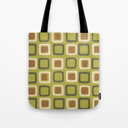 Mid Century Modern Squares Chartreuse Tote Bag