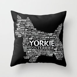Yorkie Mom Terrier Funny and Sweet Doggy print and Gift Throw Pillow