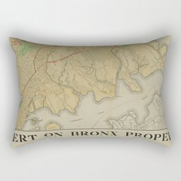 Map of the Bronx complements of Edward Polack, real estate Rectangular Pillow