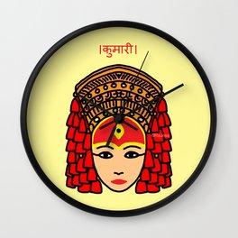 The Living Goddess Wall Clock