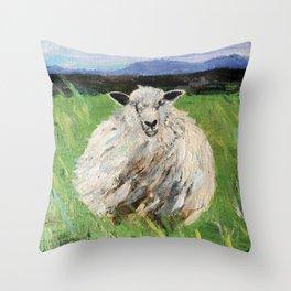 Big fat woolly sheep Throw Pillow