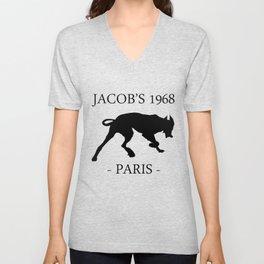 Black Dog II Contour White Jacob's 1968 fashion Paris Unisex V-Neck