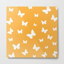 Butterflies - Fresh Orange Metal Print