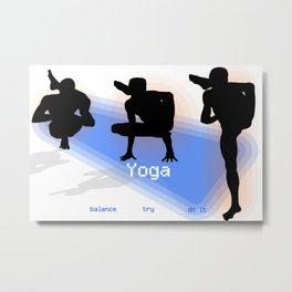 Yoga Asanas: Balance and Strength Metal Print