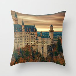 Magnificently Romantic Neuschwanstein Castle Schwangau Bavaria Germany Europe Ultra HD Throw Pillow