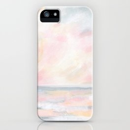 Patience - Pink and Gray Pastel Seascape iPhone Case