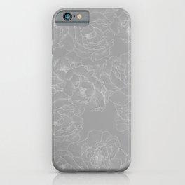 Peony Flower Pattern II iPhone Case