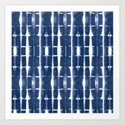 Shibori Stripes 3 Indigo Blue by followmeinstead