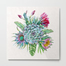 Exotic flower garden Metal Print