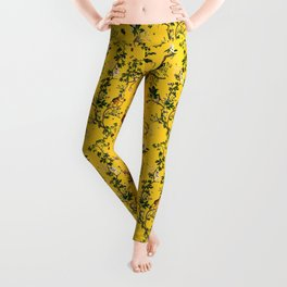 Monkey World Yellow Leggings