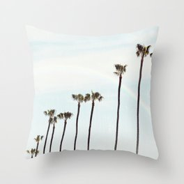 Rainbow Palms Throw Pillow