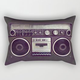 Retro Boombox Rectangular Pillow