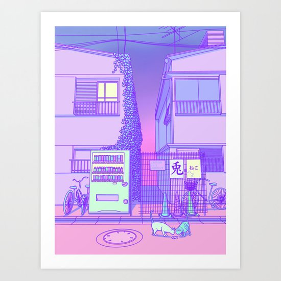 Pastel Tokyo Cats by surudenise