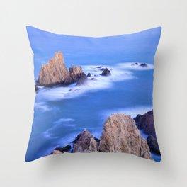 """Sirenas azules. Blue mermaids"" Throw Pillow"
