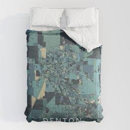 Denton, United States - Cream Blue Comforters