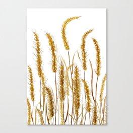 golden wheat field watercolor Leinwanddruck