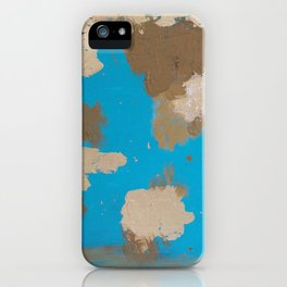 Turquoise and Gold iPhone Case