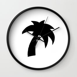 Palm Tree Silhouette Wall Clock