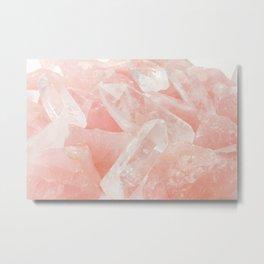 Light Pink Rose Quartz Crystals Metal Print