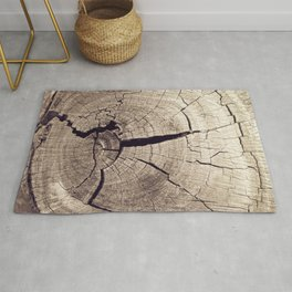 Cracks in Time - Photography #Society6 Rug
