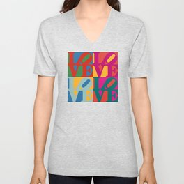Love Pop Art Unisex V-Neck