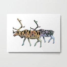 Reindeer Trout Metal Print