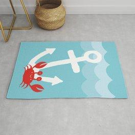Anchor's Away Crab Rug