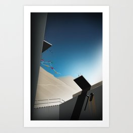 Mountain Rider - Leap of Faith Art Print